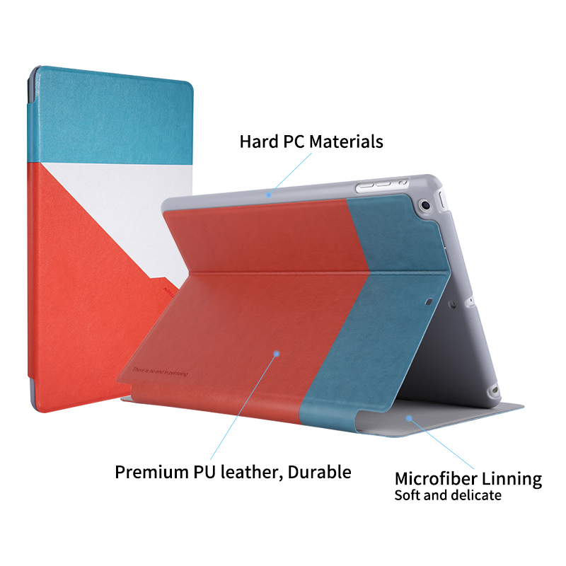 NILLKIN PU Leather Protective Shell for iPad air 1 case Magnetic smart wake up sleep protector for ipad air case cover 9.7 inch ctrinews flip case for ipad air 2 smart stand pu leather case for ipad air 2 tablet protective case wake up sleep cover coque