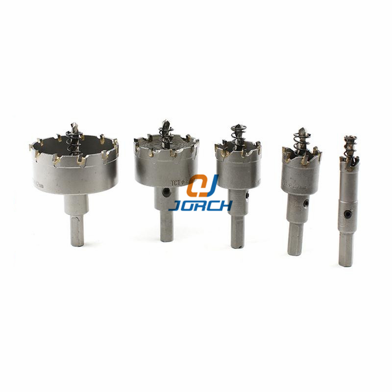 Core Drill Bit Carbide Steel 53-125mm Hole Saw Cutter Bit For Stainless Steel Plate Iron Metal Cutting Drilling Tools