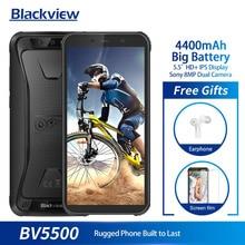 Blackview BV5500 IP68 водонепроницаемый мобильный телефон MTK6580P 2 ГБ + 16 Гб 5,5 «18:9 экран 4400 мАч Android 8,1 двойной сим-прочный смартфон