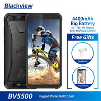 Blackview BV5500 IP68 Waterproof Mobile Phone MTK6580P 2GB+16GB 5.5 18:9 Screen 4400mAh Android 8.1 Dual SIM Rugged Smartphone