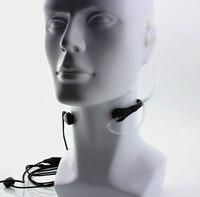 מכשיר הקשר גרון מיקרופון מיקרופון PTT Laryngofon האוויר Tube אוזניות באפרכסת ורטקס תקן VX131 VX230 VX231 VX261 מכשיר הקשר (5)