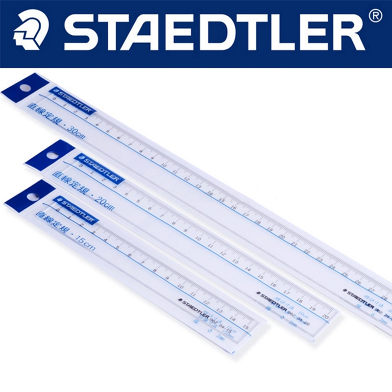 STAEDTLER 962 15/20/30cm Ultra-transparent Ruler Precision Student Drawing Ruler Stationery Office Accessories School Supplies