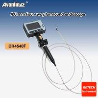 Профессиональный Портативный Водонепроницаемый 4.3 ''ЖК дисплей промышленности Borescope 4 путь OD 4.0 мм Змея инспекции Камера эндоскопа dr4540f