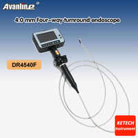 Professional Portable Waterproof 4.3'' LCD Industry Video Borescope 4 Way OD 4.0mm Snake Inspection Camera Endoscope DR4540F