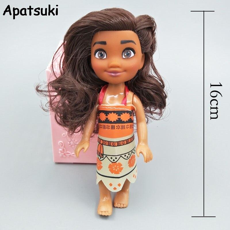 Boneca da princesa moana 16cm, figuras de ação, brinquedos, princesa moana, bjd, boneca e roupas para casa de bonecas, oceano está chamando