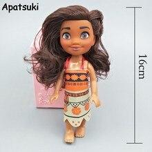 Filme princesa moana 16cm figuras de ação boneca brinquedos moana princesa bjd boneca & roupas para dollhouse menina oceano está chamando