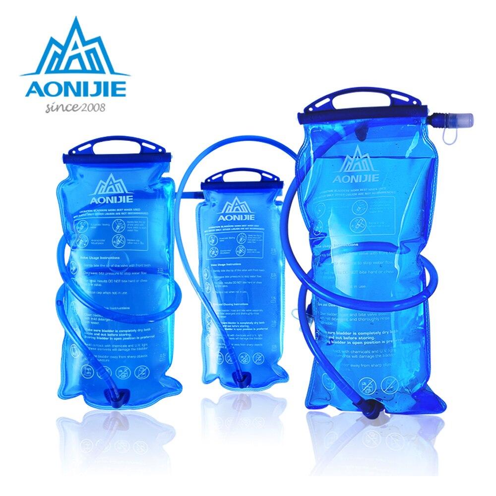 AONIJIE SD12 depósito de agua de vejiga hidratación paquete bolsa de almacenamiento libre de BPA-1L 1.5L 2L 3L Running hidratación chaleco mochila