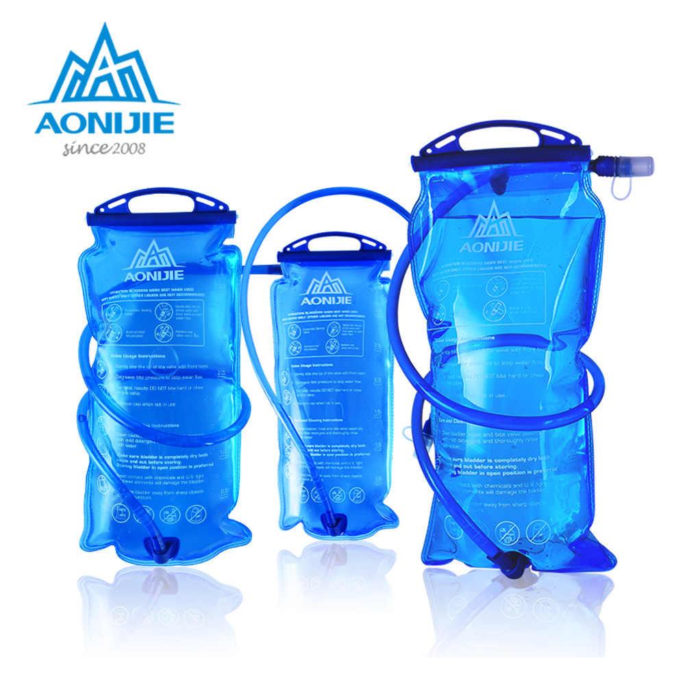 AONIJIE SD12 depósito de agua Paquete de hidratación de la vejiga de agua bolsa de almacenamiento BPA libre-1L 1.5L 2L 3L Running hidratación chaleco mochila