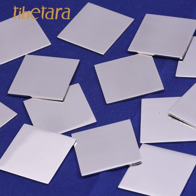 10 tibetara Stainless Steel Rectangle Metal Blank Stamping Engraving Tags