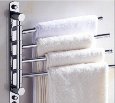 2016 New and brief 4 Swivel Towel Bars Copper Wall Mounted Bathroom Towel Rail Rack Bathroom Towel Holder Towel Hanger new and brief 4 swivel towel bars copper wall mounted black bathroom towel rail rack bathroom towel holder folding towel hanger