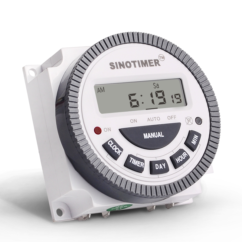 Thinner TM619 AC 220V 230V 240V Digital LCD Power Timer Programmable Time Switch Relay With UL Listed Relay 16A Easy Wiring