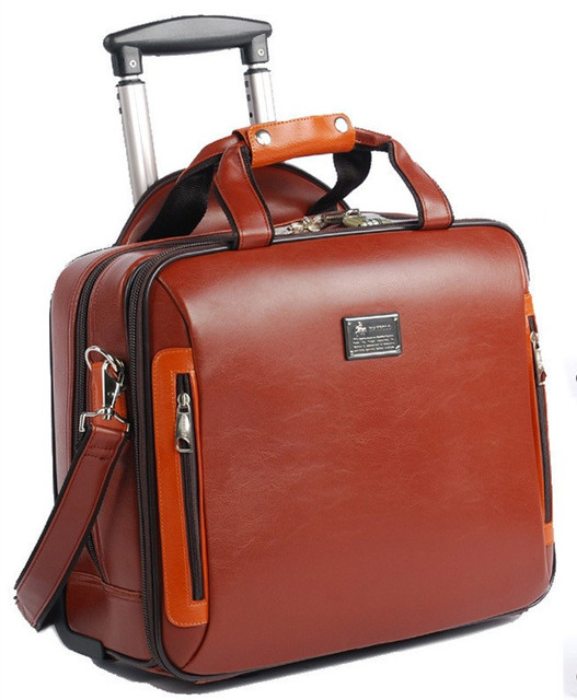 Online Shop NAPPA leather business Travel Bags suitcase,portable ...