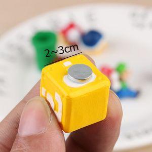 Image 4 - 10 pièces 3D Super Mario Bros aimants pour réfrigérateur réfrigérateur aimant Message autocollant adulte homme fille garçon enfants enfants jouet cadeau danniversaire