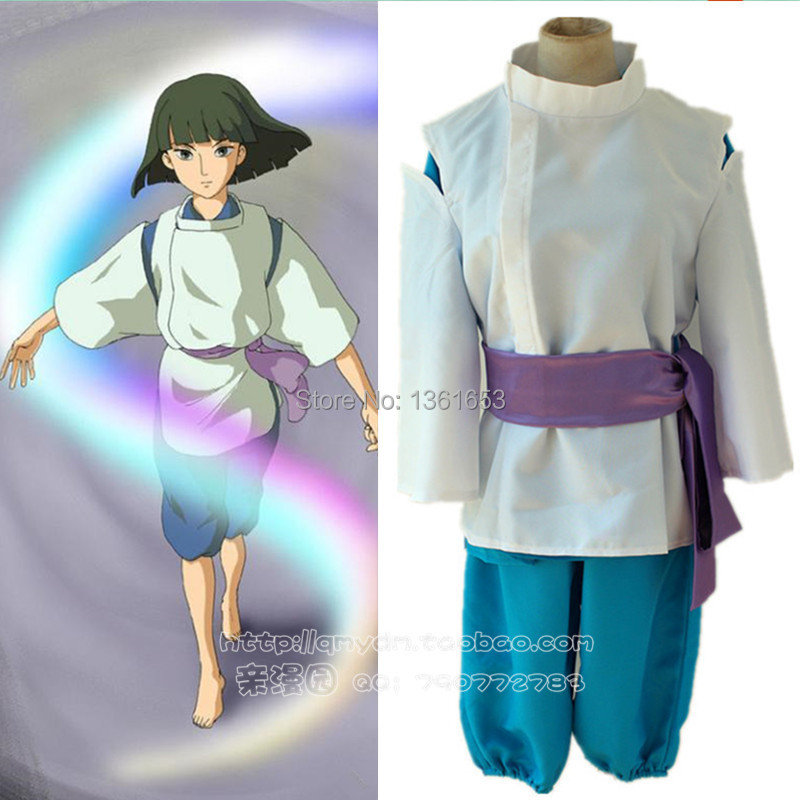 Hot Anime Spirited Away cosplay Nigihayami Kohakunushi cosplay Costume Kimono Suit hallowean party costumes clothing