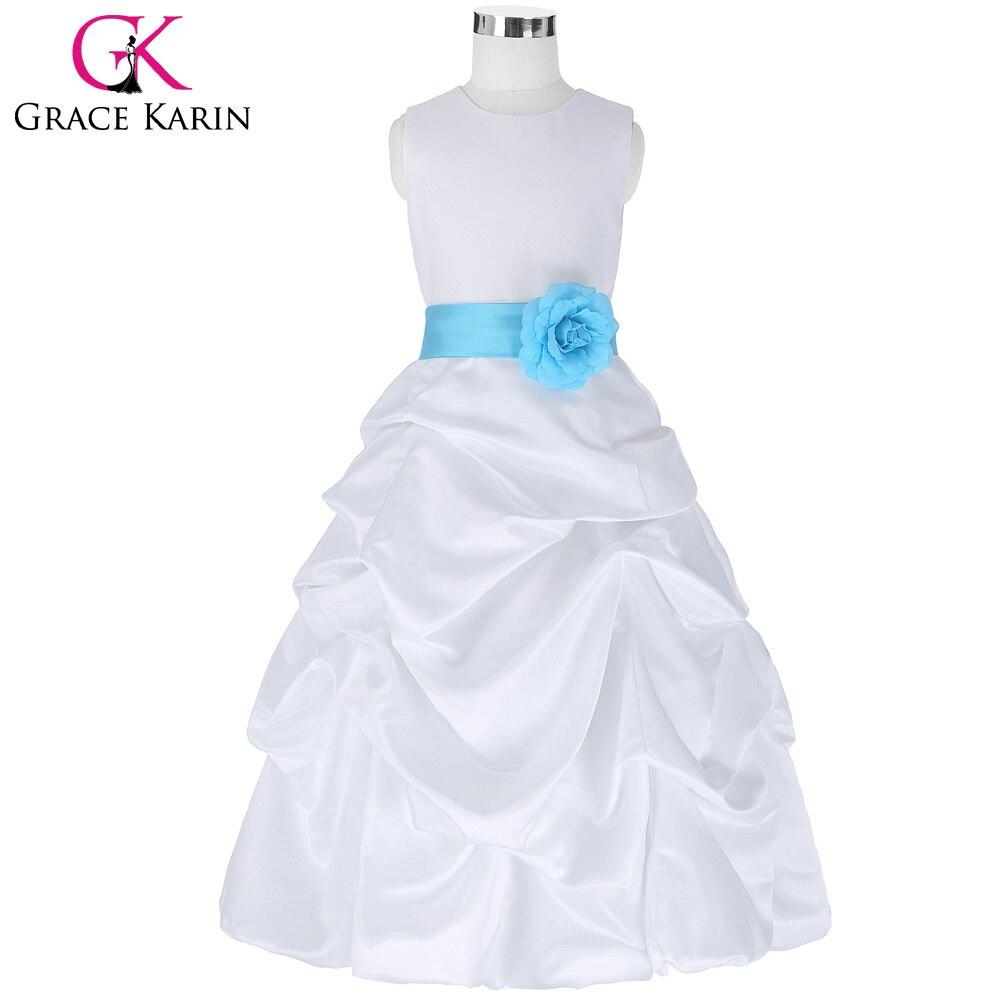 Grace Karin   Flower     Girl     Dresses   for Wedding Pageant White First Communion   Dress   for   Girls   Toddler Junior Child Formal   Dress