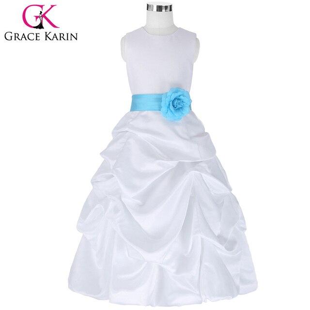 Grace karin blumenmädchenkleider für hochzeit pageant weiß ...