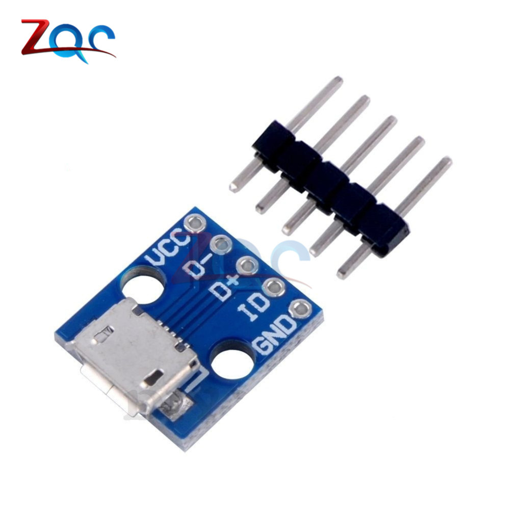 где купить 5pcs CJMCU Micro USB Board Power Adapter 5V Breakout Switch Interface Module For Arduino дешево