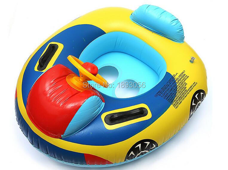 water sports pvc inflatable car design baby seat ring with steering wheel safety life buoy for babytoy gift for kid 75x63cm