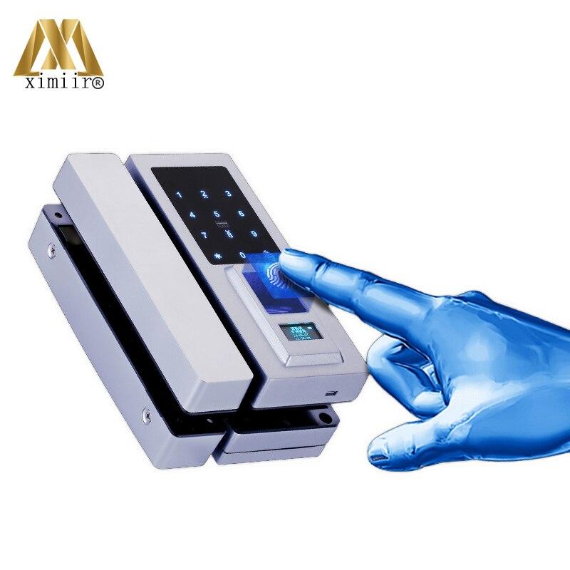 New Arrival Glass Door Lock Office Keyless Electric Fingerprint Lock XM Q1 With Touch Keypad Smart Fingerprint Door Lock|Electric Lock| |  - title=