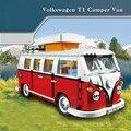 2016 nueva lepin 21001 1354 unids creador volkswagen t1 camper van modelo kits de construcción ladrillos minifigure juguetes compatible 10220