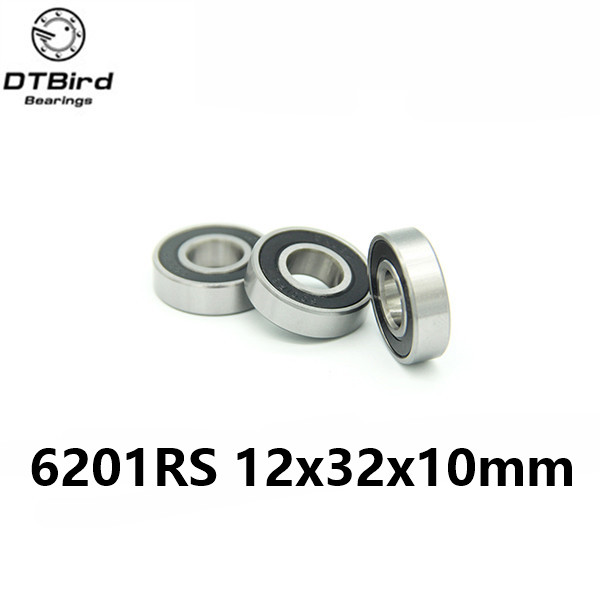 10Pcs 6201-2RS 6201RS 6201rs 6201 rs Deep Groove Ball Bearings 12 x 32 x 10mm Free shipping High Quality 2pcs 6005 2rs 6005rs 6005rs 6005 rs deep groove ball bearings 25 x 47 x 12mm free shipping high quality