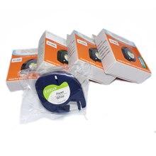 30 упаковок DYMO LetraTag этикетка лента 91200 черный на белой бумаге 1 91200 маркер ленты 91330 для принтер для этикеток DYMO LT-H100