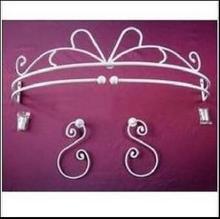 Бесплатная доставка, кованое железо кровать кадр с 1 пара крюк, мантии москитная сетка рамы занавес держатель мода принцесса утюг стойку