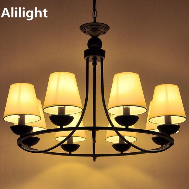 Wonderful Modern Iron Arts Chandeliers Black Hanging Lamp Fancy Lighting Lights For  Bedroom Dining Living Room Study