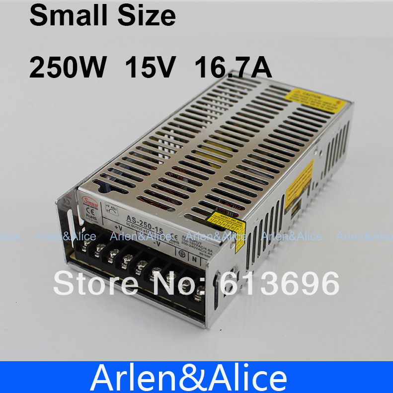 250W 15V 16.7A  Small Volume Single Output Switching power supply for LED Strip light
