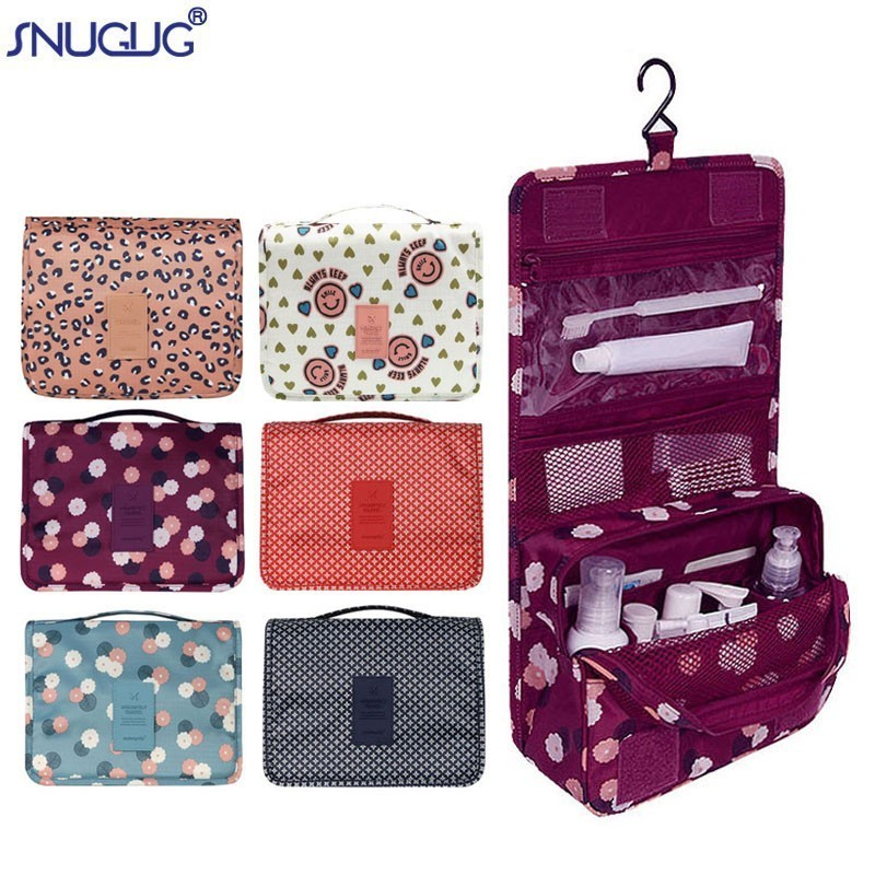 Cases Organizer Toiletry-Bag Pouch Cosmetic Hanging Travel Waterproof Women Portable