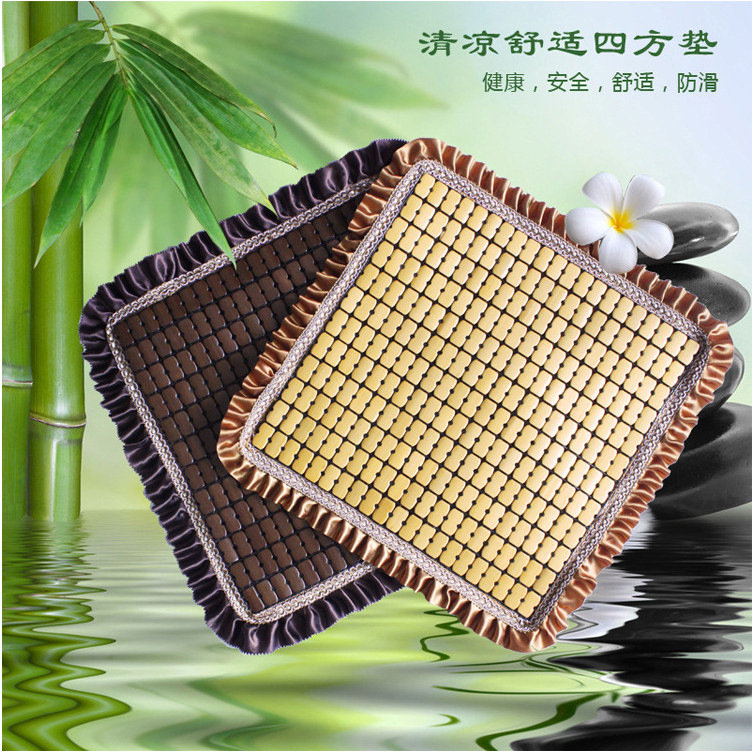 Car Single Summer Cool Pad Car Bamboo Mat Summer Bamboo Square Mat Cushion
