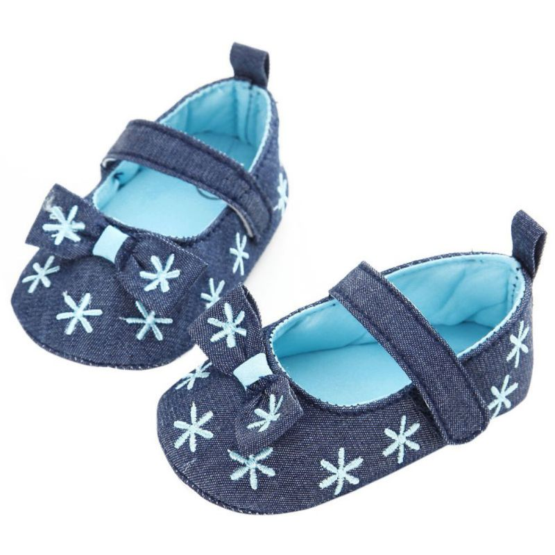 Spring Summer Baby Girl The First Walker Newborn Soft Sole Shoes First Walkers Bowknot Sole Kids Shoes