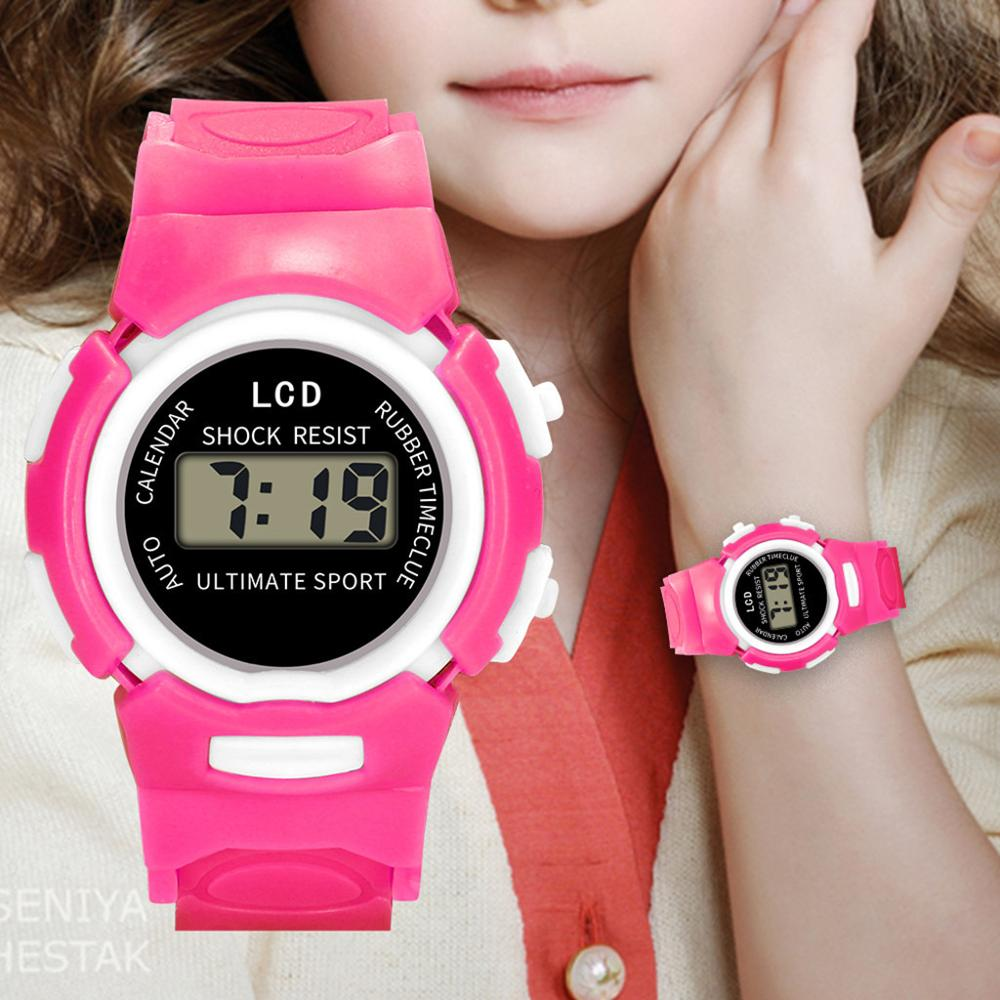 Children Girls Analog Digital Sport LED Electronic Waterproof Wrist Watch New Kids Watches Montre Enfant Reloj Gift For Kid A