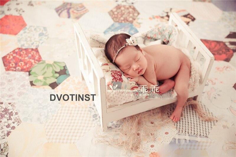 Dvotinst Pasgeboren Fotografie Props Effen Baby Retro Houten Poseren Bed Fotografia Accessoires Baby Studio Schieten Foto Props Producten Worden Zonder Beperkingen Verkocht