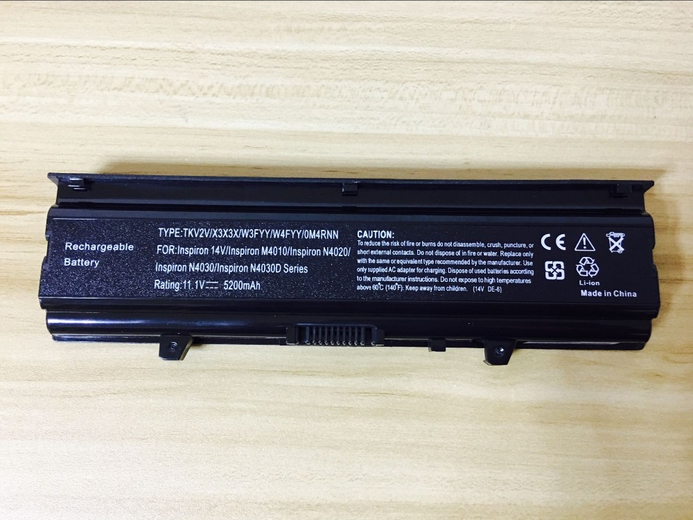цена new battery for Dell Inspiron 14 N4020 TKV2V X3X3 W4FYY N4010 N4010D N4030 N4030D M4010 N4030 N4030D series 11.1V 5200mAh