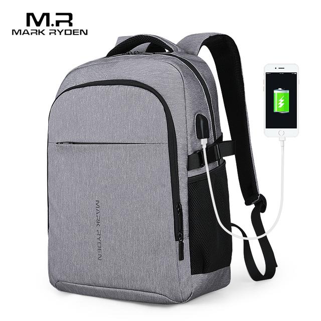 Mark Ryden 2019 New Man Backpack Multifunction USB Charging 15inch Laptop Man Bags Fashion Male Mochila Travel backpack
