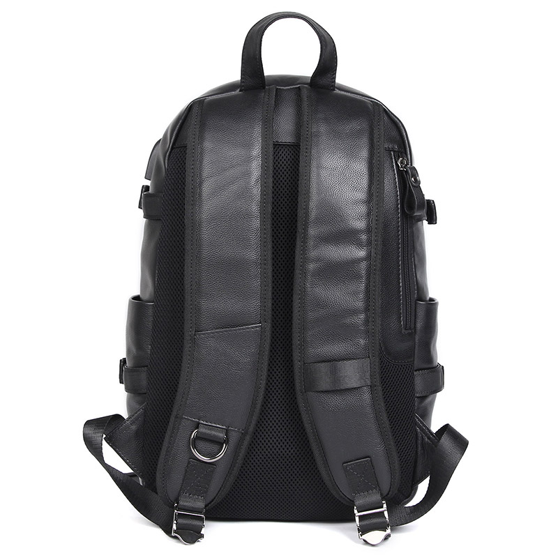 Vache sac à dos en cuir pour ordinateur portable Sac À Dos De Voyage USB Charge Mâle Mode sac D'école 2018A - 2