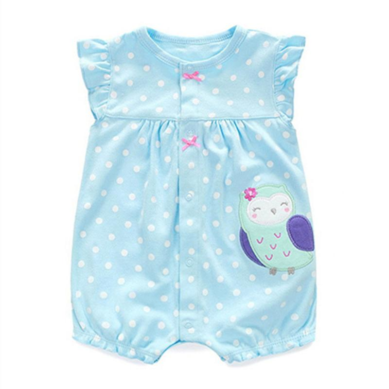 2017 New Summer Newborn Baby Girls Clothes Cute Cartoon Animal Cotton Rompers Infant Toddlers Short Sleeve Jumpsuit Costumes newborn baby rompers baby clothing 100% cotton infant jumpsuit ropa bebe long sleeve girl boys rompers costumes baby romper