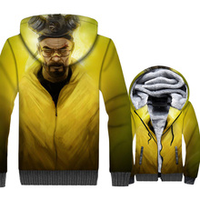 Breaking Bad Jacket Heisenberg Hoodies Men Walter White Sweatshirt Winter Thick Fleece 3D Print Coat Hip Hop Streetwear Homme