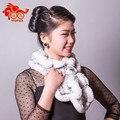 Alta calidad 11 colores Genuine Rabbit Fur Rex bufanda mujeres bienes naturales bufandas del silenciador del cabo abrigos de invierno caliente promoción mantón