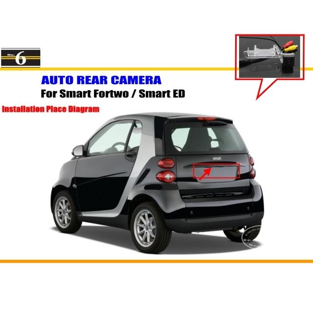 Estacionamento Câmera do carro/Câmera Reversa Para Smart Fortwo Inteligente/ED/Retrovisor Câmera/Luz Da Placa de Licença OEM