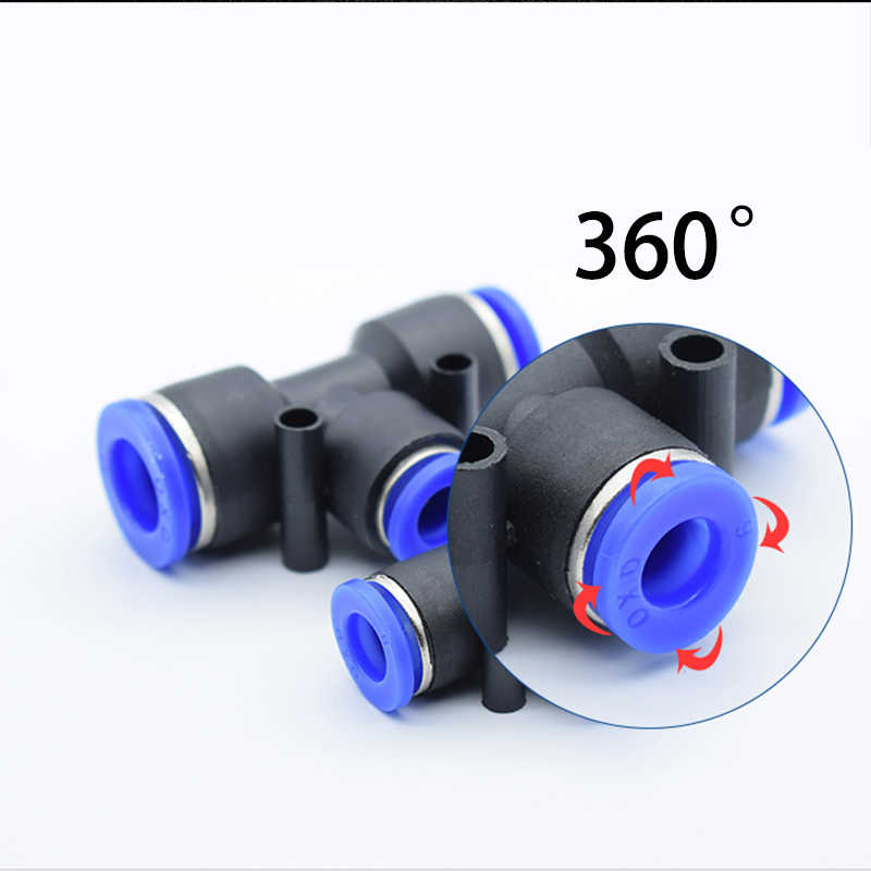 8 Pcs Straight Pipe Pneumatic One Touch Fittings Quick Connectors for 8mm Tube