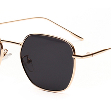 11533a8dc2239 Peekaboo black red tinted sunglasses women small frame 2019 thin gold metal  sun glasses for men
