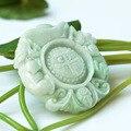 Genuine natural Fine Safe Bats a Buddism godness  Burma jade Buddism godness  jade pendant with certificate