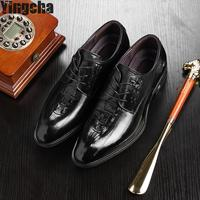100 Genuine Leather Mens Dress Shoes High Quality Oxford Shoes For Men Lace Up Business Men