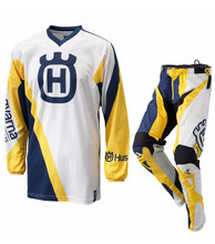 Wholesale New Husqvarna Husky Style Motocross Racing Riding Sweatshirt + MX Motorcycle Pants Cycling Jersey suit trousers jacket(China)