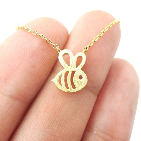 Daisies 1pc Fomous Jewelry Bumble Bee Necklace Shaped Cute Insect Charm Pendant Long Necklace For Women Girls