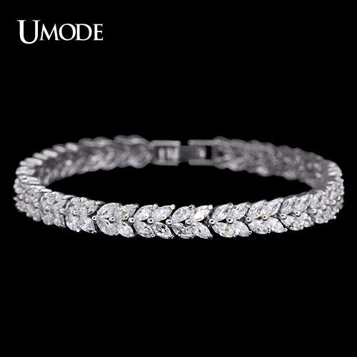 UMODE Wheat Design Tennis Bracelet & Bangle for Women Female Bracelet Bangle with Marquise Cut Cubic Zirconia Stone UB0035