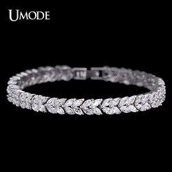 UMODE Wheat Design Tennis Bracelet & Bangle for Women Female Bracelet Bangle with Marquise Cut Cubic Zirconia Stone UB0035
