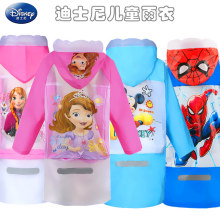 Disney Raincoat  Children Cartoon Spiderman Frozen Mickey mouse Kids Girls Rainproof Poncho Boys Rainwear Rainsuit